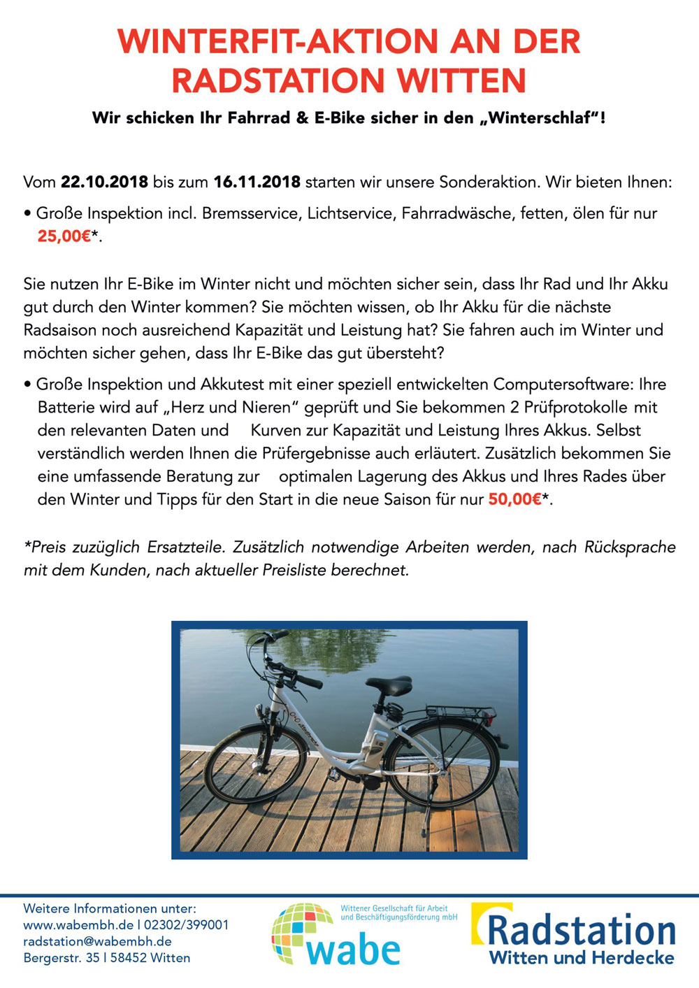 Winterfit-Aktion an der Radstation
